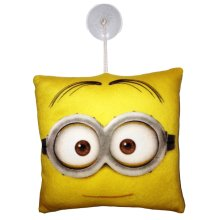 Despicable Me Minion Head Small Hanging Cushion With Suction Hook 20cm X20cm - -  cushion despicable me window minions gift new hanging kids
