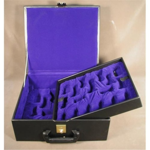 WorldWise Imports BVBXS DLX Black Vinyl Chess Box by Chopra