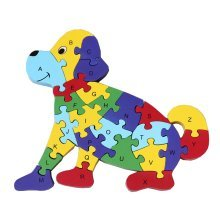 Funny Digital & Letter Wooden Blocks Puzzles Educational Puzzle Dog