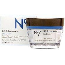 BOOTS No7 Lift & Luminate Day Cream SPF15 1.6 Fl. Oz/ 50 ml