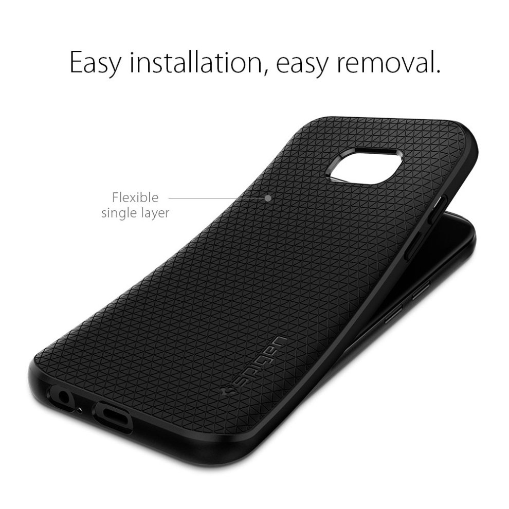 buy popular bd04b 7cde9 Samsung Galaxy A5 2017 Case, Spigen, [Liquid Air] [Black]