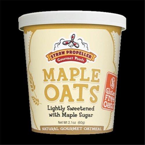 Straw Propeller Gourmet Foods 2.1 oz. Maple Oats Hot Oatmeal, Case Pack 12