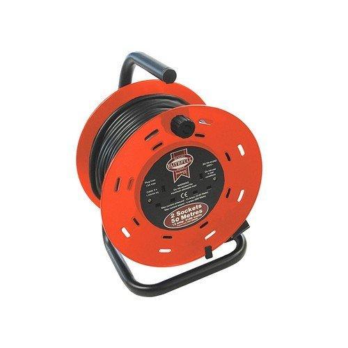 Faithfull FPPCR50M Cable Reel 50 Metre 13 Amp 230 Volt