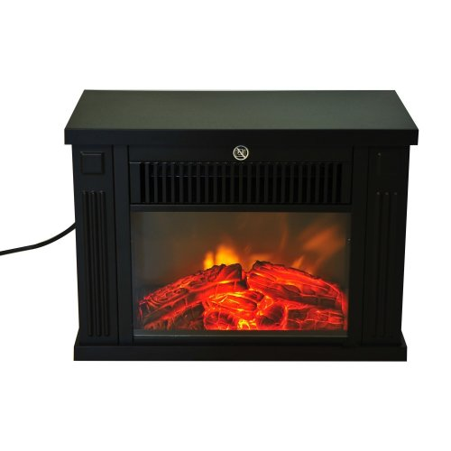Homcom Freestanding Electric Fire | Log Burning Effect Fireplace 1.2kw