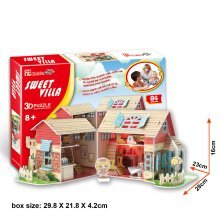 Sweet Villa 3D Jigsaw Puzzle Scale Model DIY Toy Childrens Play House