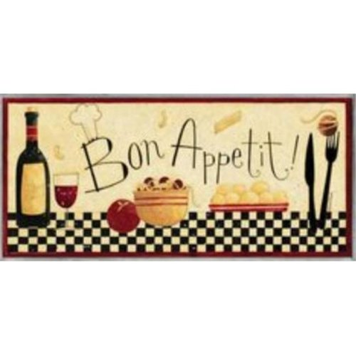 Stupell Industries KWP-939 Bon Appetit Skinny Wall Plaque