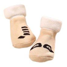 3 Pairs Non-slip Newborn Baby Toddler Socks Warm Thin Non-skid Stockings Baby Gift For 1-2 Year Baby-A04