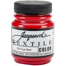 Jacquard Textile Color Fabric Paint 2.25oz-True Red