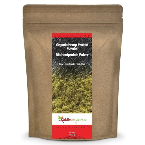 Hemp Protein Powder 500g, Raw, Certified Organic, Top Quality
