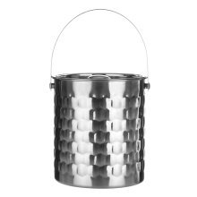 Honey Bee Ice Bucket, Stainless Steel - Silver