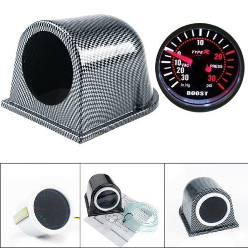 52mm Turbo Boost Pressure Pointer High Accuracy Gauge Meter  30Psi Pob LED Kits