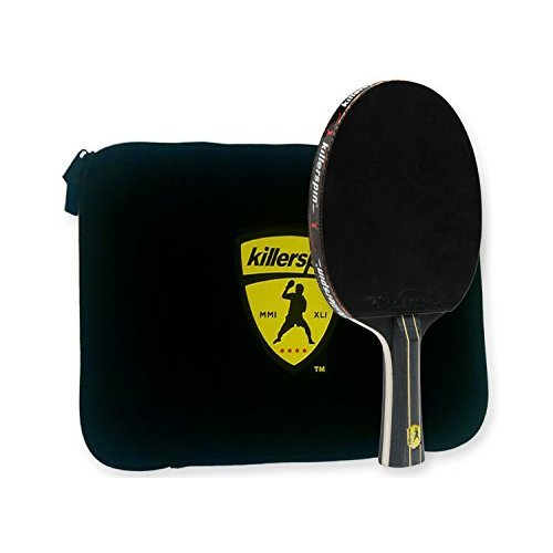 Killerspin Jetblack Combo Table Tennis Paddle Engineered For Ultimate Control And Precision With Functionaly And Structuraly Designed Bat Case