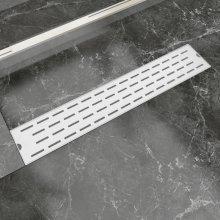 vidaXL Linear Shower Drain Line 630x140 mm Stainless Steel