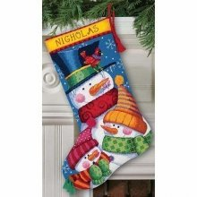 D72-109139 - Dimensions Needlepoint Kit - Stocking: Freezin' Season