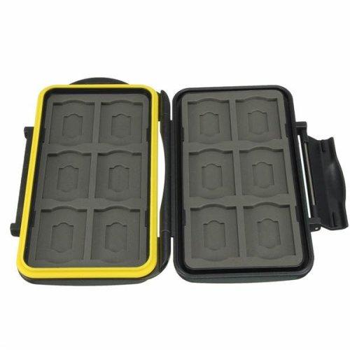 JJC MC-SD12 Water Resistant Shockproof Storage Memory Card Case