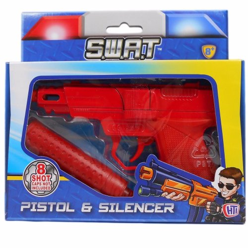 S.W.A.T Mission Pistol & Silencer Boy 007 Spy Toy Plastic Gun Suitable For 8YR +