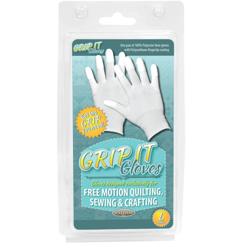 Sullivans Grip Gloves For Free Motion Quilting-Large