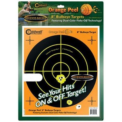 Caldwell 810099 Orange Peel 8'' bulls-eye: 100 sheets
