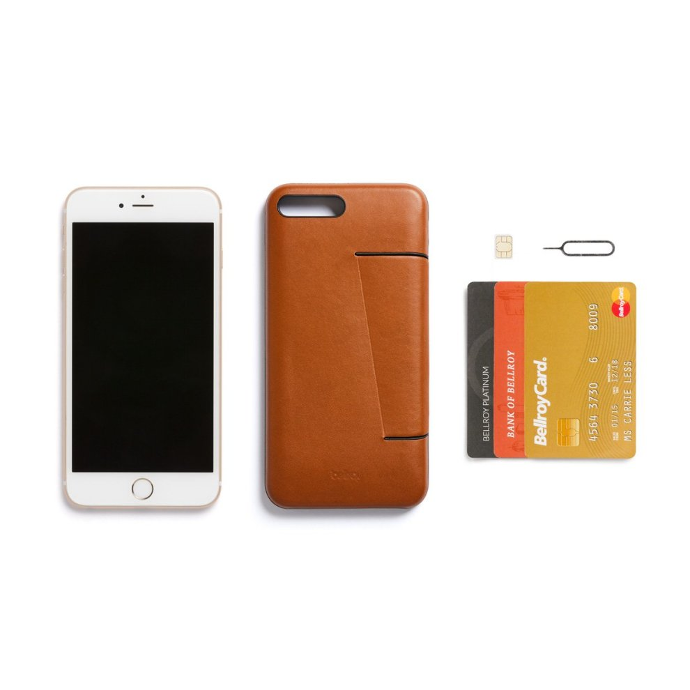new product 842a4 3d3ae Bellroy Leather iPhone 8 Plus/7 Plus Phone Case - 3 Card
