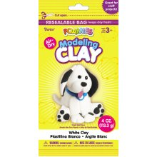 Foamies(R) Air-Dry Modeling Clay 4oz-White