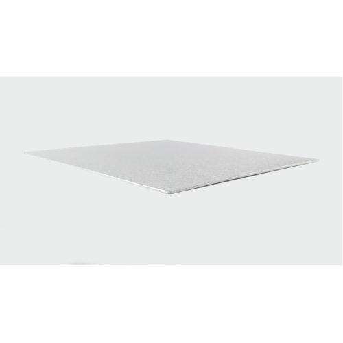 "9"" Thin Silver Square Cake Board 3mm Thick"