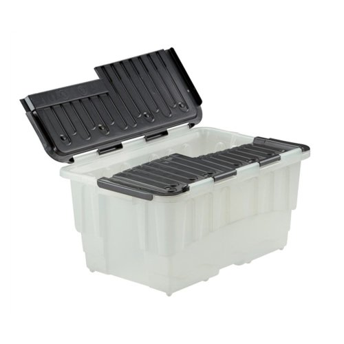 Strata 40 Litre Storemaster Plastic Smart Box with Black Hinged Lid
