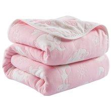 "Summer Soft Cotton Gauze Baby Towel Quilt Toddler Blankets Carpet 43.3""x 43.3"" (Pink)"