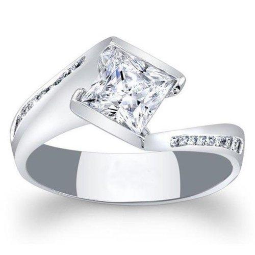 ecc8bb4910c2ea Harry Chad Enterprises HC10428-6 1.25 CT 14K White Gold Princess Cut  Diamond Wedding Ring on OnBuy