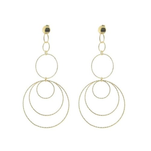 76aec8222 Fronay 125G119 Concentric Hoop Earrings in Sterling Silver & Gold Plated on  OnBuy