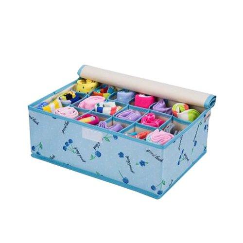 Foldable Home Small Item Organizer Socks/Underwear Storage Box 18 Grids