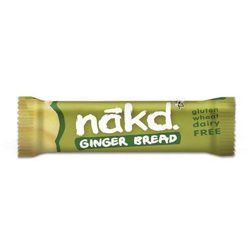 Nakd  Gingerbread Fruit & Nut Bar - Gluten Free 35g x 18