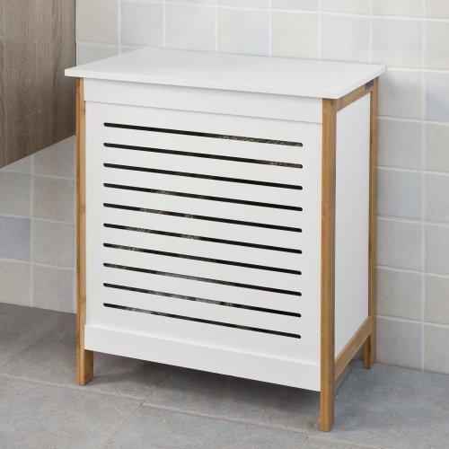 SoBuy® FSS66-WN,  Lidded Storage Bin Laundry Basket Laundry Storage Box Hamper