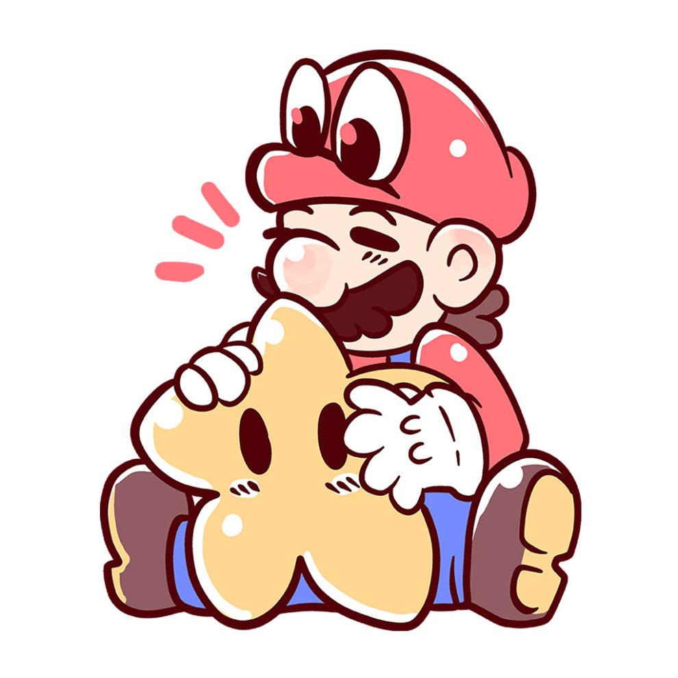 Cute Mario And Cappy Super Mario Odyssey Kid's T-Shirt