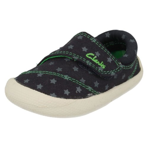 Infant Boys Clarks Doodles Choc Cookie - Navy Canvas - UK Size 3G - EU Size 18.5 - US Size 3.5W