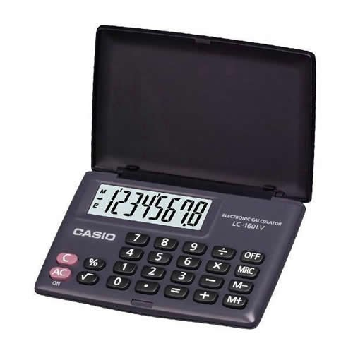 Casio Big Display Pocket Calculator (LC160LV)