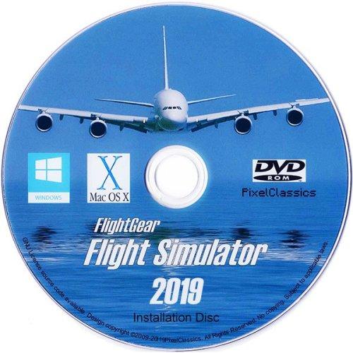 Flight Simulator 2019 X Flight Sim Plane & Helicopter FlightGear Including 500+ Aircraft DVD CD Disc For Microsoft Windows 10, 8.1, 8, 7 and Vista PC