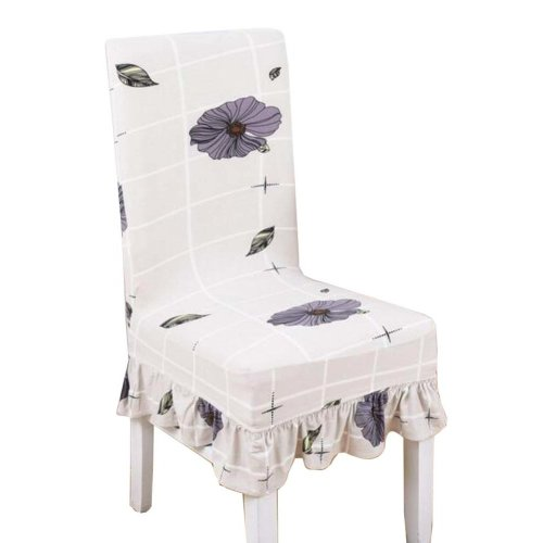 [Flowers-14] Stretch Dining Chair Slipcover Chair Cover Chair Protector