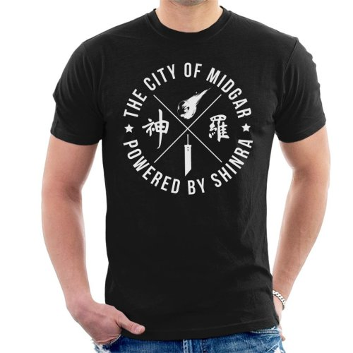 Final Fantasy City Of Midgar Powered By Shinra Men's T-Shirt