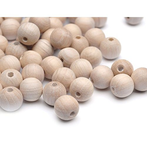 Beads Unlimited 12 mm Wood Round Unvarnished, Pack of 100, Natural