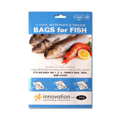 JWP Oven, Microwave & Freezer Bags for Fish,  Pack of 15