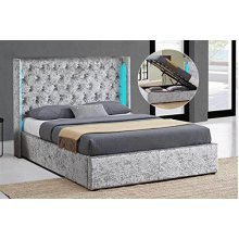 Chesterfield Ottoman Storage Bed Crystal Diamante