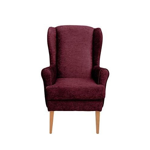 MAWCARE Darcy Orthopaedic High Seat Chair - 21 x 18 Inches [Height x Width] in Darcy Bordeaux (lc21-Darcy_d)