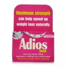 Adios Max Strength Herbal Slimming Tablets Pack Of 100