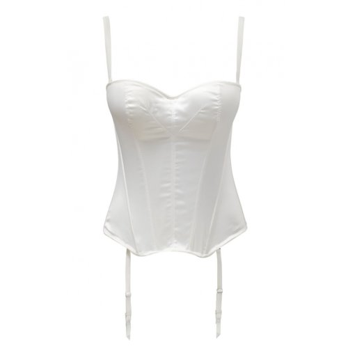 Masquerade Womens Tiffany Basque size 34F in Ivory