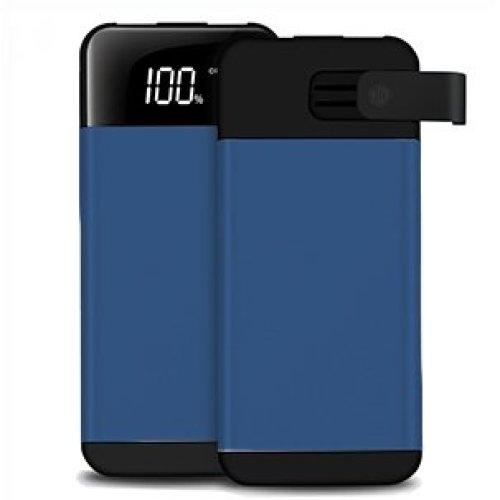 ARIO®20000mAh PowerBank 2USB LCD screen for all mobile phones (Blue)