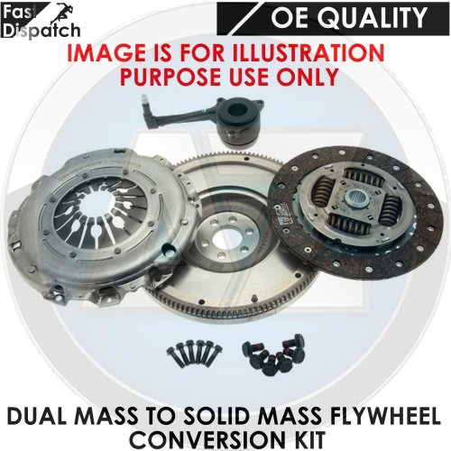 AUDI FORD SEAT SKODA 1.9 TDI SOLID MASS FLYWHEEL CLUTCH CONVERSION KIT 6 SPEED