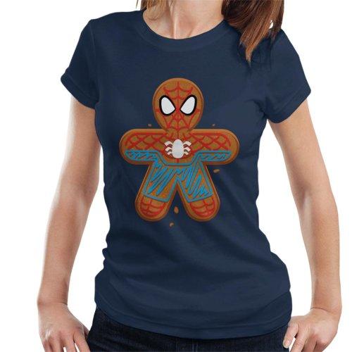 Marvel Avengers Christmas Gingerbread Spider Man Women's T-Shirt