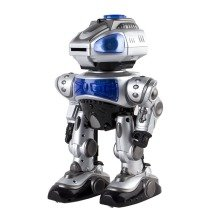 "Deao Rc Robot ""robokid"" with Multiple Actions Sounds Lights and Effects Includes Foam Disks  ""robokid"" Rc Infrared System Robot with Multiple Actions and Special Features."