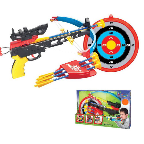 CHILDREN'S CROSSBOW ARCHERY SET CROSS BOW ARROW TARGET BOYS OUTDOOR GARDEN TOY