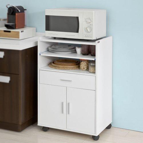 SoBuy® FSB09-W, Microwave Shelf Kitchen Storage Trolley Kitchen Cabinet